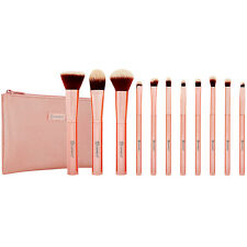 ♥ BH COSMETICS Metal Rose 11 Pc Brush Set with Cosmetic Bag