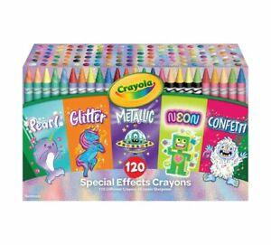 Crayola (523453) 96 Crayons, Neon, Metallic, Pearlescent & Glitter Crayons