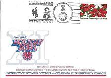 1988 Holiday Bowl Game Postcard Barry Sanders MVP Oklahoma State OSU vs Wyoming