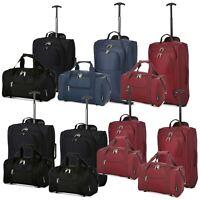 Set Of 1 Or 2 Ryanair Hand Luggage 40x25x20 Holdall & 55x35x20 Cabin Bag Trolley