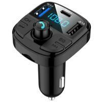 BT29 QC3.0 Bluetooth Car Kit FM Transmitter MP3 Player Type C USB Charger #B