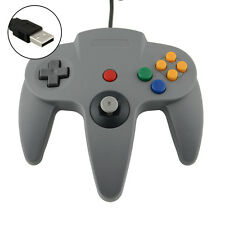 New USB Wired Controller Joypad Gamepad For Nintendo Gamecube N64 64 PC Grey