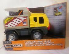 Matchbox Flashlight Rally Truck Mattel Yellow Battery Operated