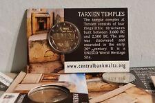 Coincard 2 Euros Commémorative Malte 2021Temple Tarxien BU