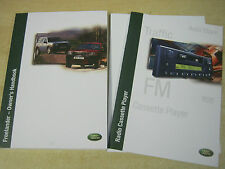 LAND ROVER FREELANDER  HANDBOOK  OWNERS MANUAL 2000-2004 INC AUDIO