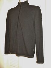 HUGO BOSS Full Zip Gray 100% Cotton Sweater Jacket Mens Size Small S