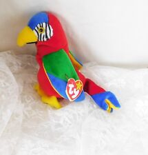 """TY Beanie Baby Parrot """"Jabber"""" with Tag Errors"""