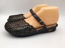 Alegria Womens Leather Mary Jane Flats Tuscany Leopard Stripe 9.5 EU 40 Medium
