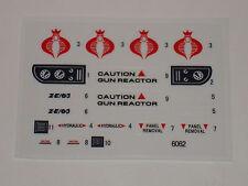 GI Joe Cobra Air Chariot Sticker Decal Sheet