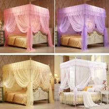 Home 4 Corner Post Bed Canopy Mosquito Netting Or Frame/Post Single Double King
