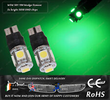 LED SMD T10 W5W 501 Wedge Green Strobe Flashing Police Look Side Light Bulbs 12V