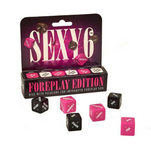 SEXY 6 Foreplay Couples Dice Game Romantic Play Sex Erotic Adult Naughty Gift