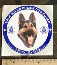 Vancouver Police Dog Squad Sticker