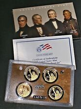 2009 S Presidential Dollar Proof Set 4 Coins US Mint (with Box & COA)