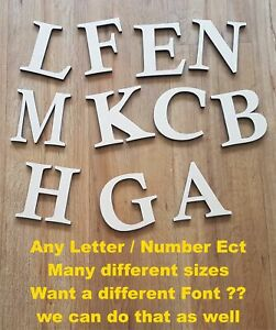 CALISTO FONT MEDITE MDF LETTERS  NUMBERS IN SIZES 2345678 AND 10cm