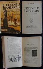 X/ L'EXEMPLE AMÉRICAIN Le prix du temps aux Etats-Unis (E.Servan) Payot 1917