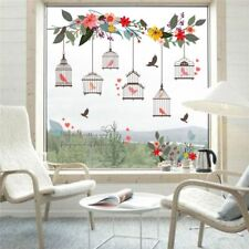 Colorful Flower TV Window Living Room Art Wall Sticker Background Decals Garden