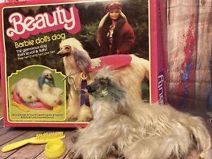 "Vintage Barbie Doll's Glamorous Afghan Dog ""Beauty"" 1979 In Original Box-Mattel"