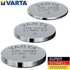 Varta CR2016 CR2025 CR2032 Batterien Uhren Knopfzellen Knopfzelle 1-20 stück