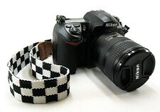 Black White Lattice DSLR Camera Neck Strap For Nikon D5100 D7000 D3000 D5100 #14