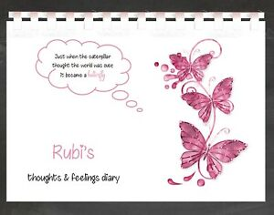 Personalised Mood Diary Tracker Mental Health Thoughts Feeling Book Journal MD15