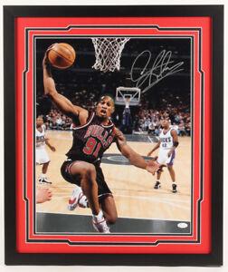 Dennis Rodman Signed Chicago Bulls 22 x 26 Custom Framed Photo Display (JSA COA)
