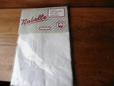 1 taie d'oreiller portefeuille 65x65 , coton blanc, marque NABELLE, emballée,