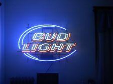 """Bud Light Red Neon Light Sign 17""""x14"""" Beer Gift Lamp Bar Artwork Glass Poster"""