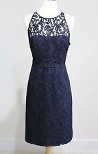 NWT J CREW Navy PAMELA DRESS in Leavers Lace Sz 12 Style A1743 $228 Retail