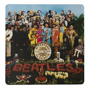 The Beatles SGT PEPPERS Metal Wall Sign Retro Tin Steel Plaque Bar Retro Gift