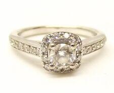 14K White Gold Diamond Ring Sz 6 Engagement Wedding .61 Carat TCW Signed A Jaffe