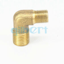 "Brass ELbow Pipe fitting Connector 90 Deg M12x1.25mm male to 1/8"" male Thread"