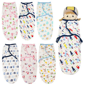 Newborn Baby Swaddle Wrap Soft Swaddling Sleeping Bag Flannel Blanket 0-3Mounths