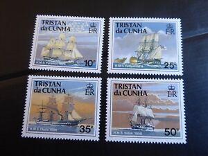 TRISTAN DA CUNHA 1990 SG 505-508 SHIPS OF THE ROYAL NAVY (1ST SERIES) MNH