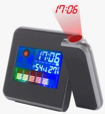 Digital Coloured LCD Calendar Alarm Date Temperature Humidity Projector Clock
