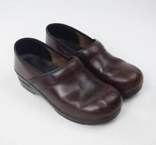 DANSKO Oiled Brown Leather Occupational Nursing Clogs Shoes Womens 40 9.5 10