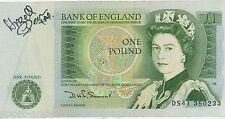 Hazell Dean SIGNED AUTOGRAPH on RARE One Pound Note AFTAL UACC RD