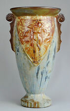Grand vase Art Deco grès Femme nue art nouveau stoneware Roger Guerin  ? Belgium