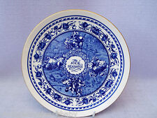 Masons Blue & White Plate Ringtons Tea The Four Seasons Dresser Plate