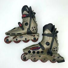Vintage Oxygen Inline Roller Blade Skates Mens Size 30.0 Gold w/ Black Trim 90s
