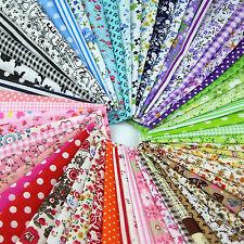 50PC 10x10cm Fabric Bundle Stash Cotton Patchwork Sewing Quilting Tissue Cloth