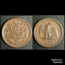 Hubert Kurt Milwaukee, Wisconsin 1863 Store Card Wi-510-W-1a (R-4)