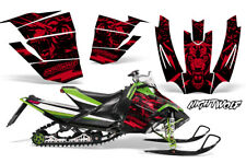 Arctic Cat Sno Pro Race Sled Wrap Snowmobile Decal Graphic Kit NIGHTWOLF RED