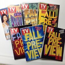 TV Guide Fall Preview Editions - Set of 7 issues dating between 1991 and 2001