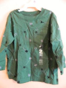 "NWT baby Gap boy green pocket t-shirt w/gray & black ""8 bit"" aliens; size 18-24m"