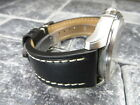 23mm VICTORINOX SWISS ARMY LEATHER STRAP Band Infantry Vintage Chronograph BK R