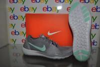 Nike Free Focus Flyknit 2 Womens Running Shoes 880630 003 Gray/Artic Green NIB