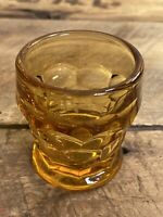 "Amber Glass Toothpick Holder Dish - 2.25"" Tall"