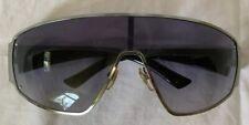 GUCCI Wraparound Shield Sunglasses ~ Italy ~ Silver/Black