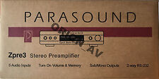 Parasound Z ZPRE3 Stereo Zone Audio Video Preamplifier Black Brand New
